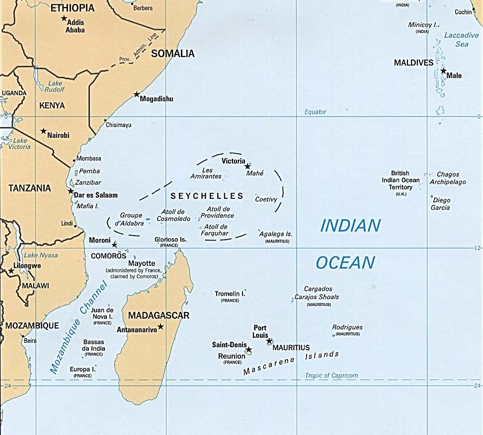 Map Of African Islands.Indian Ocean Islands Map Greatest Africa