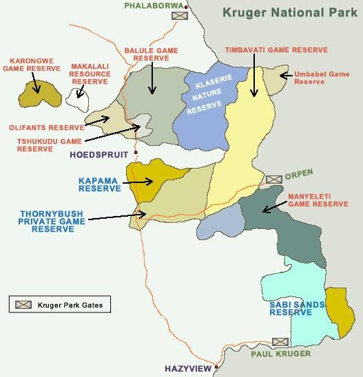 Kruger Area Map