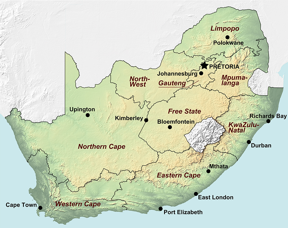 Maps Greatest Africa - Map south africa