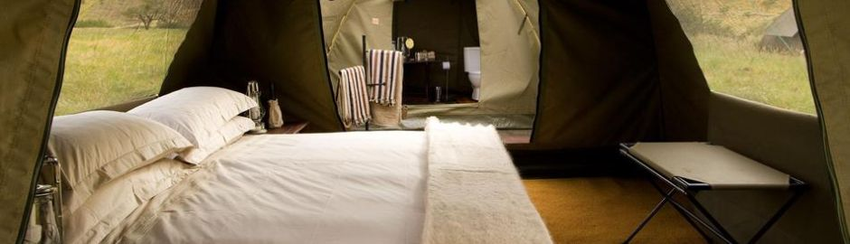 Botswana Explorer Expedition Tent Bedroom Ensuite banner