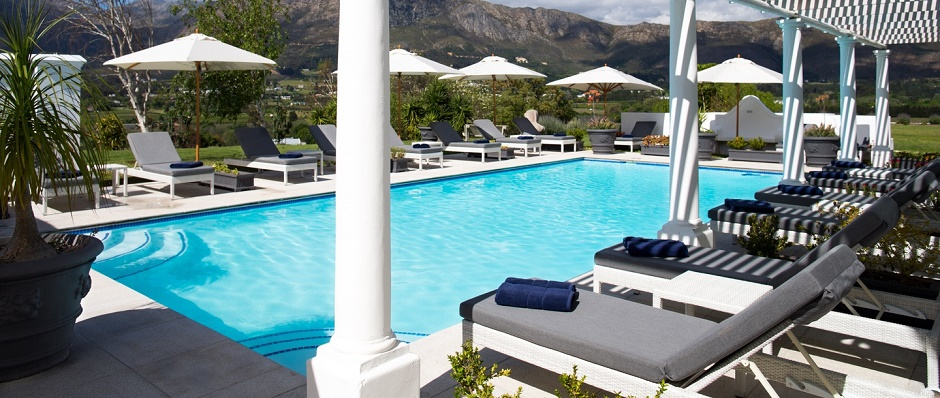 Relax by the Mont Rochelle pool.