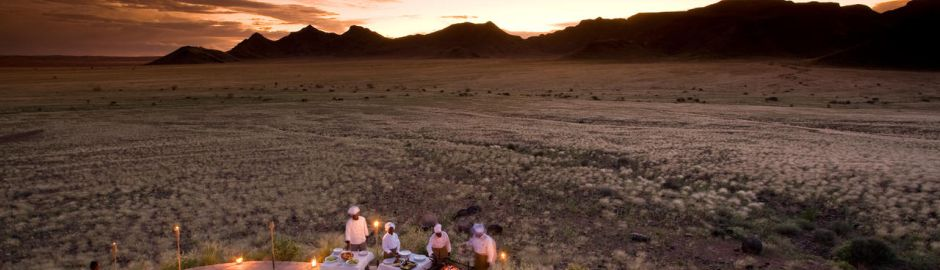 Sossusvlei Desert Lodge Sunset banner act