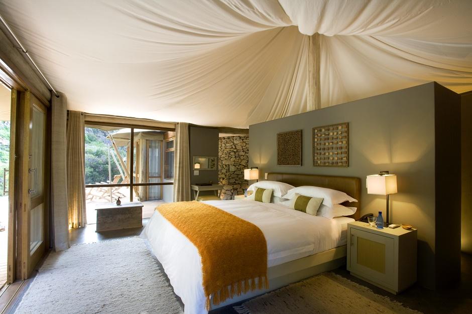 Dwyka tented interiors, Sanbona Wildlife reserve