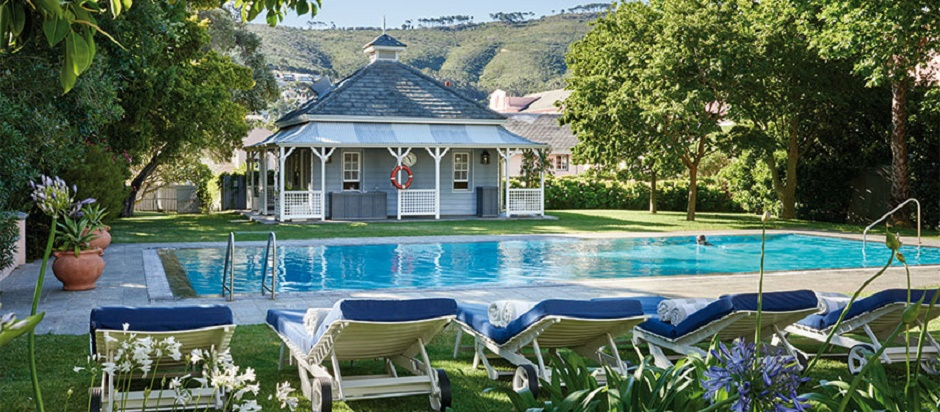 Relax by the pool at the Mount Nelson