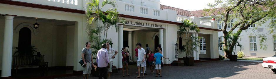 Victoria Falls Hotel Entrance b
