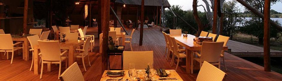 Victoria Falls River Lodge Dining b