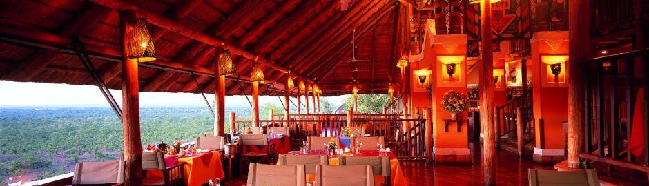 Victoria Falls Safari Lodge Restuarant View b