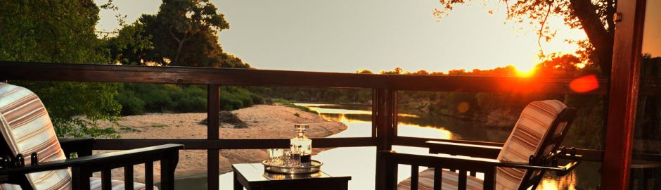 Hamiltons Tented Camp Deck Sunset Kruger honeymoon