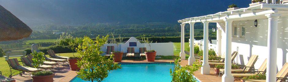 Mont Rochelle Hotel Pool Cape Town honeymoon
