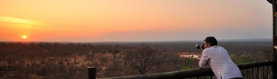 Victoria Falls Safari Club sunset b
