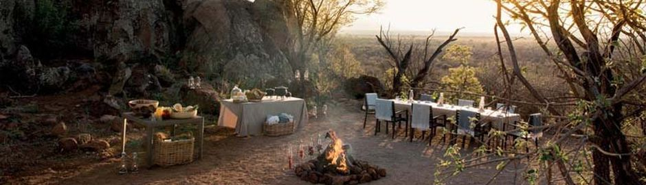Bush dining Madikwe Hills Private Game Lodge