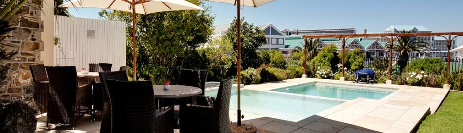 Victoria and Alfred Hotel pool Cape Town and Kruger honeymoon