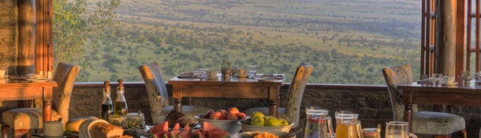 Dining Klein's Camp Serengeti