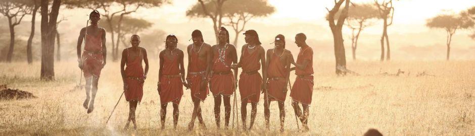 Maasai at Klein's Camp Serengeti