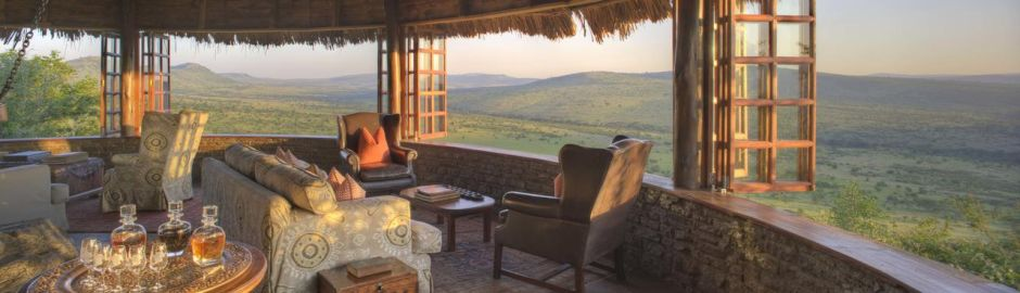 Lounge View Klein's Camp Serengeti