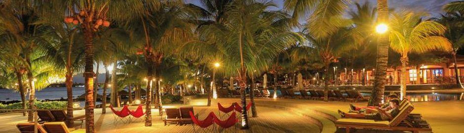 Le Mauricia Hotel Mauritius Beachfront at Dusk