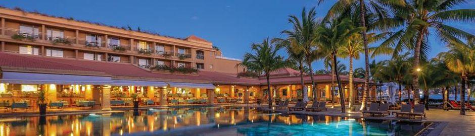 Le Mauricia Hotel Mauritius Pool Sunset