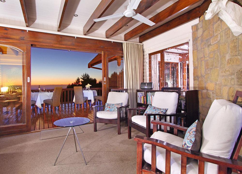 Guest Lounge at Lalapanzi Lodge